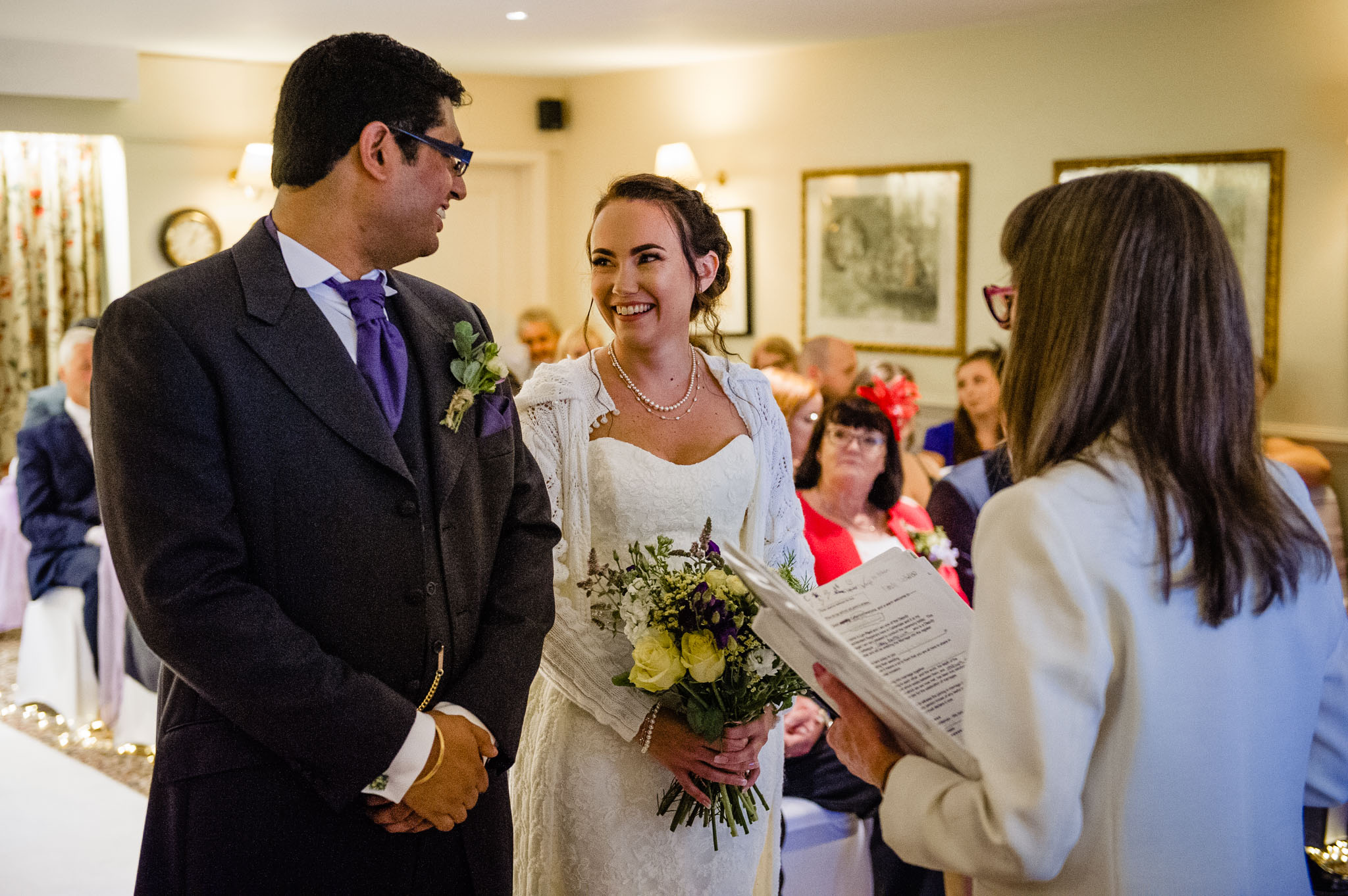 Sharing a glance during the ceremony