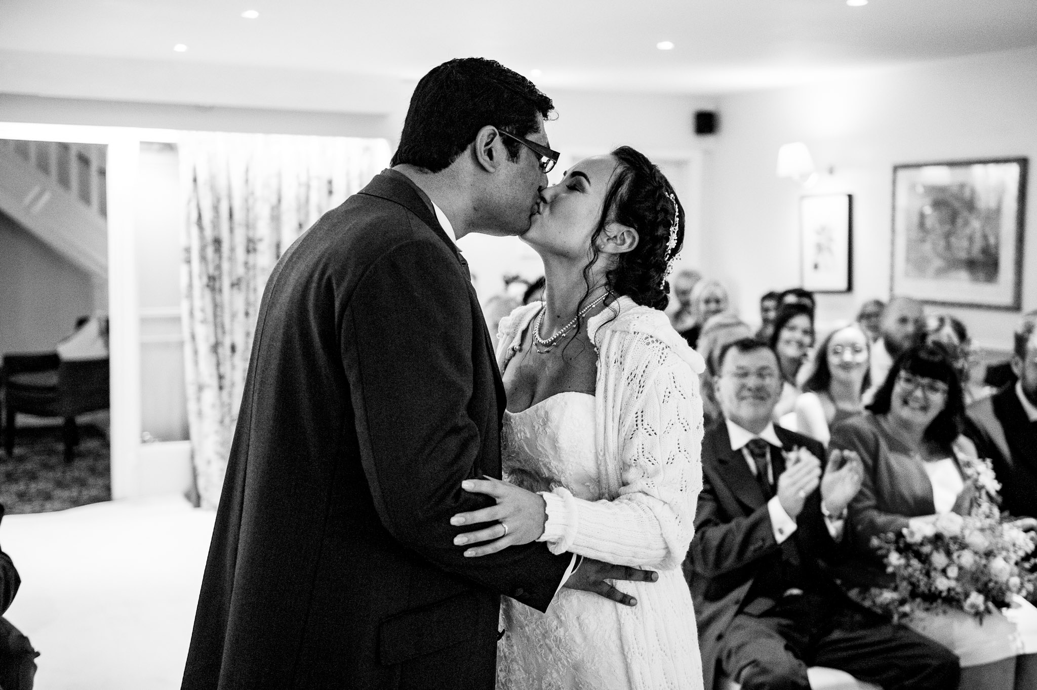 First kiss at Holdsworth House in Halifax
