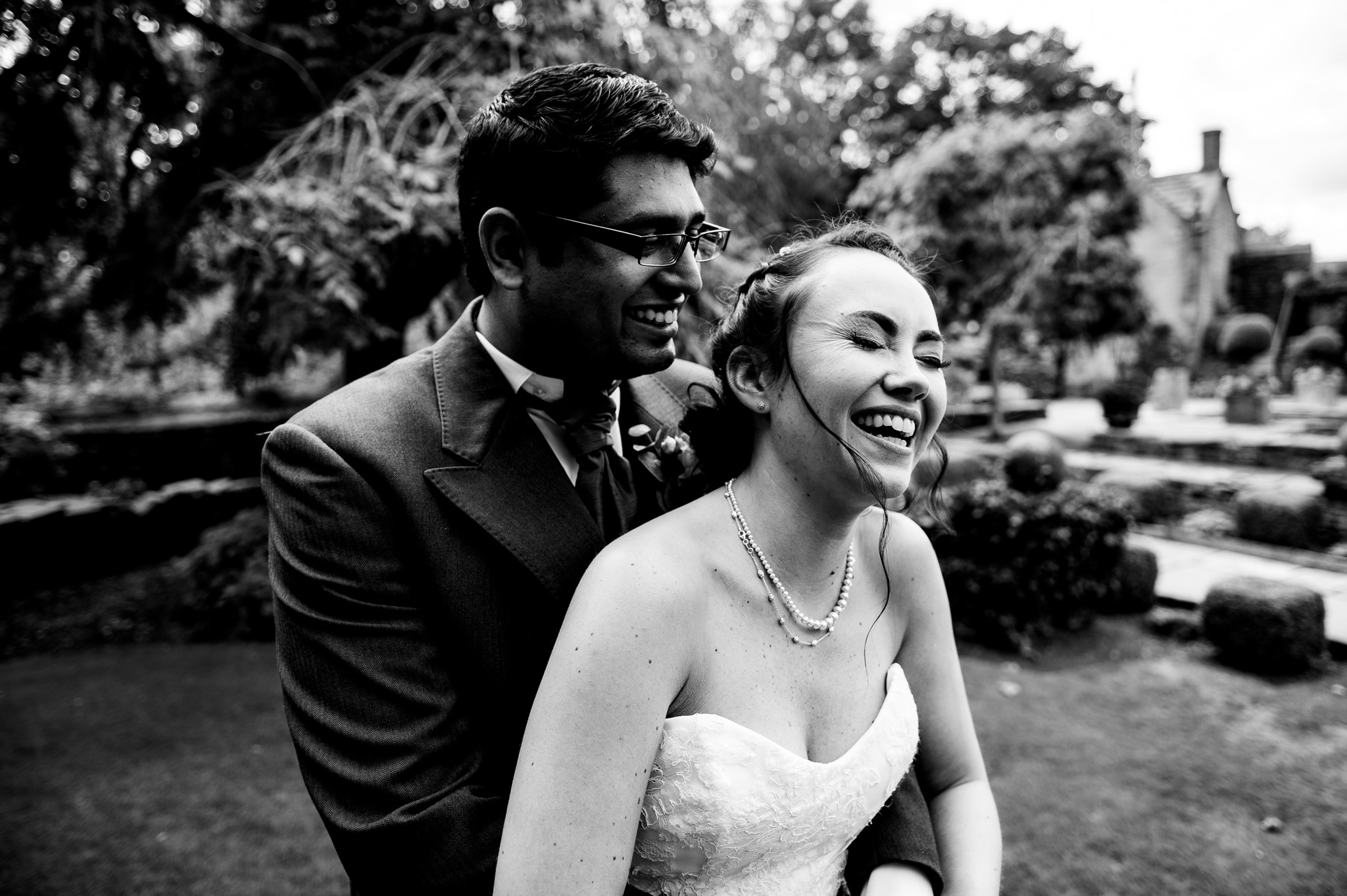 Natural couple portrait - Wedding photography at Holdsworth House in Halifax